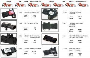 GM MAP Sensors 1 bar 2 bar 3 bar