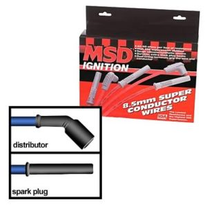 Black MSD LSX 8.5mm Super Conductor Spark Plug Wires